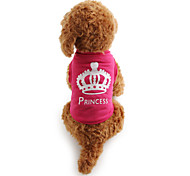 cheap -Cat Dog Shirt / T-Shirt Dog Clothes Casual/Daily Tiaras & Crowns Rose Costume For Pets
