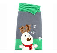 Недорогие -Собака Свитера Одежда для собак Рождество Новогодняя тематика Серый Костюм Для домашних животных
