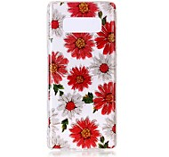 cheap -Case For Samsung Galaxy Note 8 Ultra-thin Transparent Pattern Back Cover Flower Soft TPU for Note 8 Note 5 Edge Note 5 Note 4 Note 3 Lite