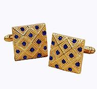 Недорогие -Геометрической формы Золотой Запонки Искусственный бриллиант Сплав Нарядная одежда Мода Повседневные Официальные Муж. Бижутерия