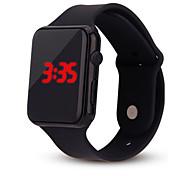 Недорогие -Жен. Цифровой электронные часы Китайский Секундомер Повседневные часы силиконовый Группа На каждый день минималист Мода Cool Черный Белый