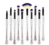 cheap -10pcs Lip Brush Eyeshadow Brush Makeup Brush Set Synthetic Hair Eco-friendly Professional Soft Travel Size Synthetic Resin Eye Nose