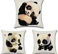 Недорогие -набор из 3 каваии панда печати подушка крышка 45 * 45 см подушка случае индивидуальные подушки покрытие