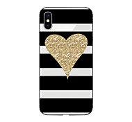cheap -Case For Apple iPhone X iPhone 8 Pattern Back Cover Lines / Waves Heart Glitter Shine Soft TPU for iPhone X iPhone 8 Plus iPhone 8 iPhone