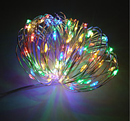 cheap -ZDM® 100 LEDs 10M String Light Warm White Cold White Color-changing Purple Green Yellow Blue Red Decorative <5V