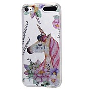 cheap -Case For Apple Ipod Touch5 / 6 Case Cover High Penetrating Powder IMD Unicorn Soft TPU Phone Case