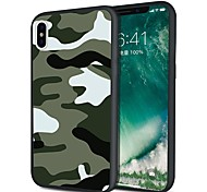 cheap -Case For Apple iPhone X iPhone 8 Plus Pattern Back Cover Camouflage Color Soft TPU for iPhone X iPhone 8 Plus iPhone 8 iPhone 7 Plus