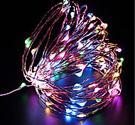 cheap -ZDM® 100 LEDs 10M String Light Warm White Cold White Multi Color Purple Yellow Blue Red <5V