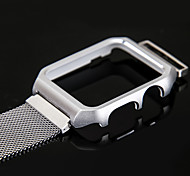Milanese Watch Band with Metal Frame for Apple Watch 3 Series 1 2 38mm 42mm Stainless Steel Replacement Bracelet