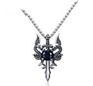Недорогие -Муж. Дракон Животные Ожерелья с подвесками Цирконий Нержавеющая сталь Ожерелья с подвесками , Повседневные