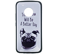 cheap -Case For Motorola MOTO G5 Plus MOTO G5 IMD Pattern Back Cover Dog Soft TPU for Moto G5 Plus Moto G5 Moto G4 Plus Moto G4 Play Moto E4