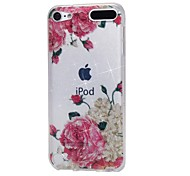 cheap -Case For Apple Ipod Touch5 / 6 Case Cover High Penetrating Powder IMD White Flowers Soft TPU Phone Case