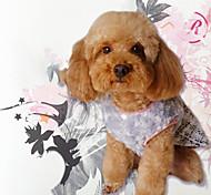 Недорогие -Собака Толстовка Комбинезоны Платья Одежда для собак Стиль Сохраняет тепло Для отдыха Марля Тонка шерсть Окрашенная пряжа Реактивная