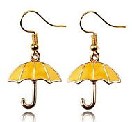 cheap -Women's 2pcs Drop Earrings - Simple Lovely Gold Umbrella Earrings For Daily Going out