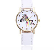 cheap -Women's Quartz Wrist Watch Chinese Casual Watch PU Band Casual Minimalist Colorful Black White Blue Red Orange Brown Green Pink Purple