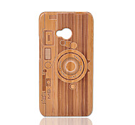 cheap -Case For HTC Shockproof Back Cover Geometric Pattern Hard Bamboo for HTC One M7