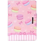 Недорогие -Кейс для Назначение Apple iPad Air 2 iPad mini 4 Кошелек Бумажник для карт со стендом Чехол Продукты питания Твердый Искусственная кожа