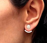 cheap -Women's Stud Earrings Front Back Earrings Rhinestone Simple Vintage Fashion Alloy Geometric Shape Jewelry Daily Work