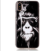 cheap -Case For Apple iPhone X iPhone 8 iPhone 8 Plus iPhone 5 Case Pattern Back Cover Animal Soft TPU for iPhone X iPhone 8 Plus iPhone 8