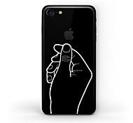 Недорогие -Наклейки для Защита от царапин Черный и белый Узор Матовое стекло PVC iPhone 7