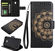 cheap -Case For Samsung Galaxy J5 (2017) J3 (2017) Card Holder Wallet with Stand Flip Embossed Full Body Cases Mandala Hard PU Leather for J7
