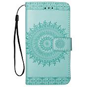 abordables -Funda Para Samsung Galaxy S8 S7 Flip Diseños Funda de Cuerpo Entero Flor Dura Cuero de PU para S8 Plus S8 S7 edge S7 S6 edge S6 S5 S4 S3