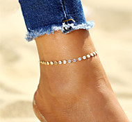 cheap -Bohemian , Silver Plated Gold Plated Anklet Ankle Bracelet - Women's Gold Silver Bohemian Fashion Circle Silver Plated Gold Plated Alloy