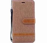 Недорогие -Кейс для Назначение Xiaomi Redmi Примечание 5A Бумажник для карт Кошелек Защита от удара Флип Магнитный Чехол Сплошной цвет Твердый