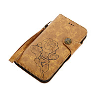 cheap -Case For Motorola MOTO G5 Plus MOTO E4 Plus Card Holder Wallet with Stand Flip Magnetic Pattern Full Body Cases Flower Hard PU Leather for