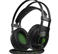 baratos -SADES SA-801 Bandana Com Fio Fones Dinâmico Plástico Games Fone de ouvido Com Microfone Fone de ouvido
