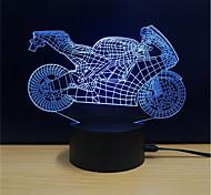 Недорогие -1 комплект LED Night Light Стресс и тревога помощи Меняет цвета С портом USB Декоративный свет Работает от USB Сенсорный 7-Color