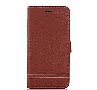 preiswerte -Hülle Für Huawei Honor 9 Honor 8 Kreditkartenfächer Geldbeutel mit Halterung Flipbare Hülle Ganzkörper-Gehäuse Volltonfarbe Hart PU-Leder