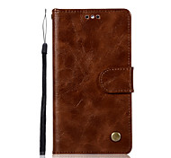 cheap -Case For Huawei Y6 (2017)(Nova Young) Y5 II / Honor 5 Card Holder Wallet with Stand Flip Full Body Cases Solid Color Hard PU Leather for