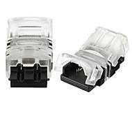 Недорогие -zdm 2pcs 2pin 8mm 10mm разъем провода для водонепроницаемого 5050 5730/3528 2835 одноцветный светодиодный гибкий ленточный свет