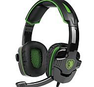baratos -SADES SA-930 Bandana Com Fio Fones Dinâmico Plástico Games Fone de ouvido Com Microfone Fone de ouvido