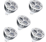 abordables -5pcs 6W 450 lm GU5.3(MR16) Focos LED MR16 3 leds LED de Alta Potencia Decorativa Blanco Cálido Blanco Fresco DC 12V