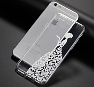 cheap -Case For Apple iPhone 8 iPhone 8 Plus iPhone 5 Case iPhone 6 iPhone 7 Ultra-thin Transparent Pattern Back Cover Playing with Apple Logo