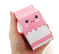 cheap -Squishy Pink Milk Box Bottle  Slow Rising Collection Gift Decor Soft Toy