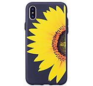 abordables -Funda Para Apple iPhone X iPhone 8 Diseños En Relieve Flor Suave para