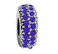 cheap -DIY Jewelry 1 pcs Beads Imitation Diamond Alloy White Dark Blue Red Round Bead 0.5 cm DIY Necklace Bracelet