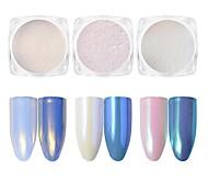 Недорогие -1шт Зеркальный эффект Русалка Эффект перлы порошок Порошок блеска Гель для ногтей Светло-розовый Бело-пурпурный Коричневый Дизайн ногтей
