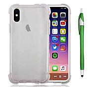 abordables -Coque Pour Apple iPhone X iPhone 8 Plus Antichoc Transparente Coque Couleur unie Flexible TPU pour iPhone X iPhone 8 Plus iPhone 8 iPhone