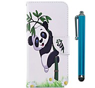 cheap -Case For Apple iPhone X iPhone 8 Plus Card Holder Wallet with Stand Flip Magnetic Full Body Cases Panda Hard PU Leather TPU for iPhone 8