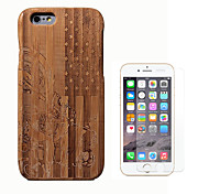 cheap -Case For Apple iPhone 6 Shockproof Full Body Cases Wood Grain Hard Bamboo for iPhone 6s iPhone 6