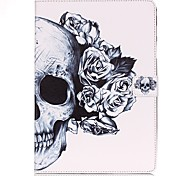 cheap -Case For Samsung Tab E 9.6 Card Holder Wallet with Stand Pattern Auto Sleep/Wake Up Full Body Cases Skull Hard PU Leather for Tab E 9.6