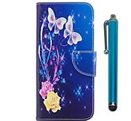 Недорогие -Кейс для Назначение Apple iPhone X iPhone 8 Plus Бумажник для карт Кошелек со стендом Флип Магнитный Чехол Бабочка Твердый Кожа PU ТПУ для