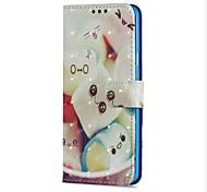 Недорогие -Кейс для Назначение SSamsung Galaxy S9 S9 Plus Бумажник для карт Кошелек со стендом Флип Магнитный Чехол Продукты питания Твердый Кожа PU