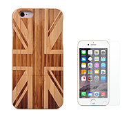 cheap -Case For Apple iPhone 6 iPhone 6 Plus Shockproof Full Body Cases Flag Hard Bamboo for iPhone 6s Plus iPhone 6s iPhone 6 Plus iPhone 6