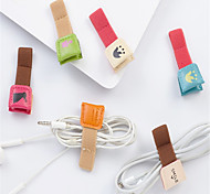 abordables -Gestión de cables Organizador de cable piel genuina iPhone 8 Plus / 7 Plus / 6S Plus / 6 Plus