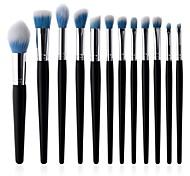 Недорогие -10 в комплекте Постоянные принадлежности для макияжа Кисть для пудры Ресницы кисти Кисть для помады Синтетические волосы Экологичные